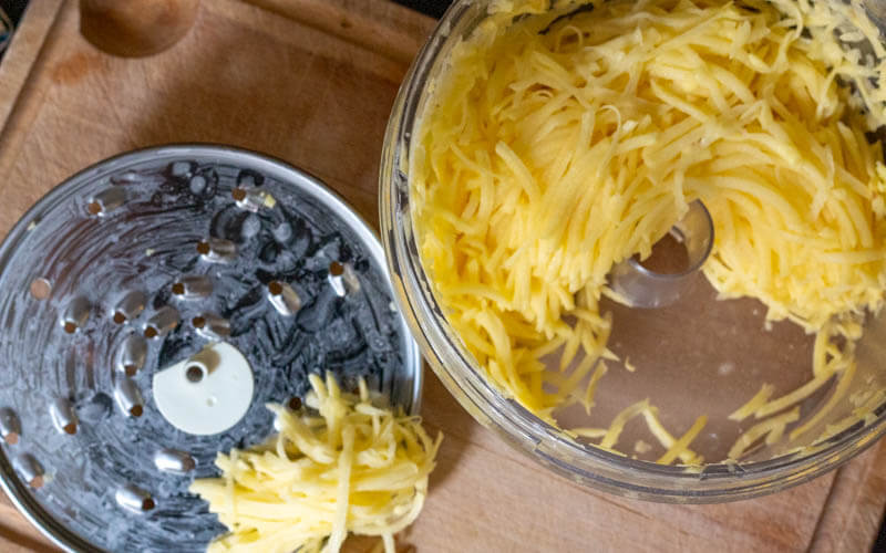 How to Grate Potatoes in a Food Processor